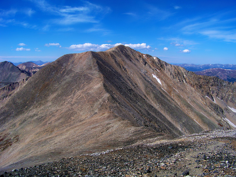 The east face of Mt. Democrat seen from Mt. Bross, Colorado Mosquito Range.