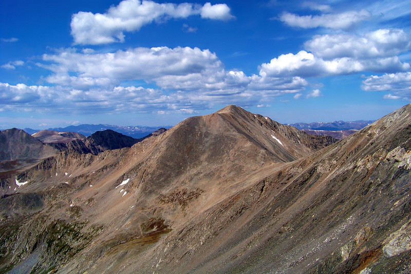 Mt. Democrat and the connecting ridge to Mt. Lincoln, Colorado Mosquito Range.