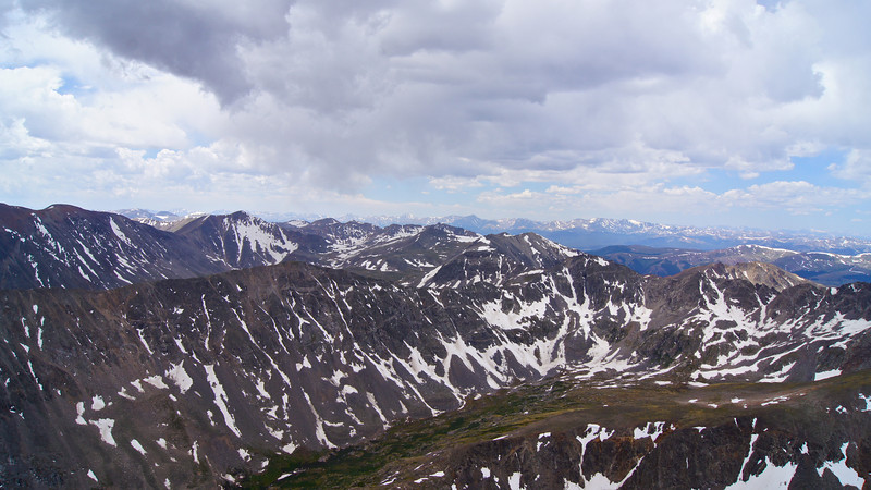 The view west from the summit of Quandary Peak; Colorado Tenmile Range.