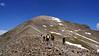 Hiking the standard route (east ridge) of Quandary Peak; Colorado Tenmile Range.