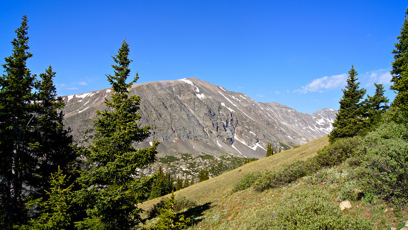 Northstar Mountain stands directly south across Blue Lakes basin; Colorado Tenmile Range.