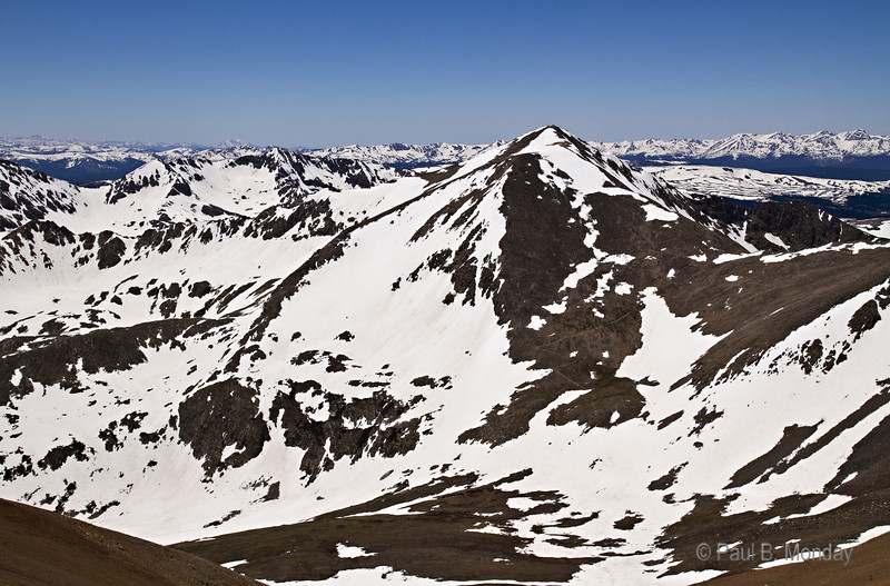 Mt Democrat (from just below the closure sign on Mt. Bross)