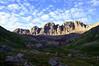 Early morning sun and shadow in the lower American Basin beneath Handies Peak; Colorado San Juan Range.