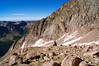 Looking back over the Chicago Basin from the east slopes of Mount Eolus; Colorado San Juan Range