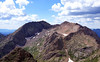 Mount Eolus as seen from the summit of Windom Peak, Colorado San Juans. Colorado San Juan Range