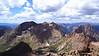 Mt. Eolus and the Twin Lakes basin, viewed from the Windom summit; Colorado San Juans. Colorado San Juan Range