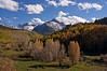 A clear, calm afternoon in a meadow along the northern approach to Mount Sneffels; Colorado San Juan Mountains.