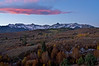 Autumn sunrise over the Sneffels Range; Colorado San Juan Mountains.