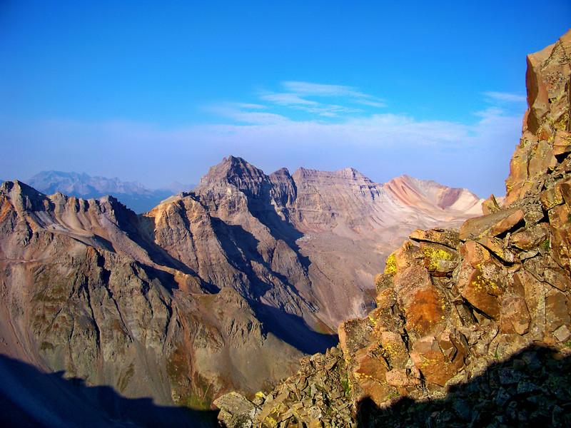 Dallas Peak from the southwest ridge of Mt. Sneffels