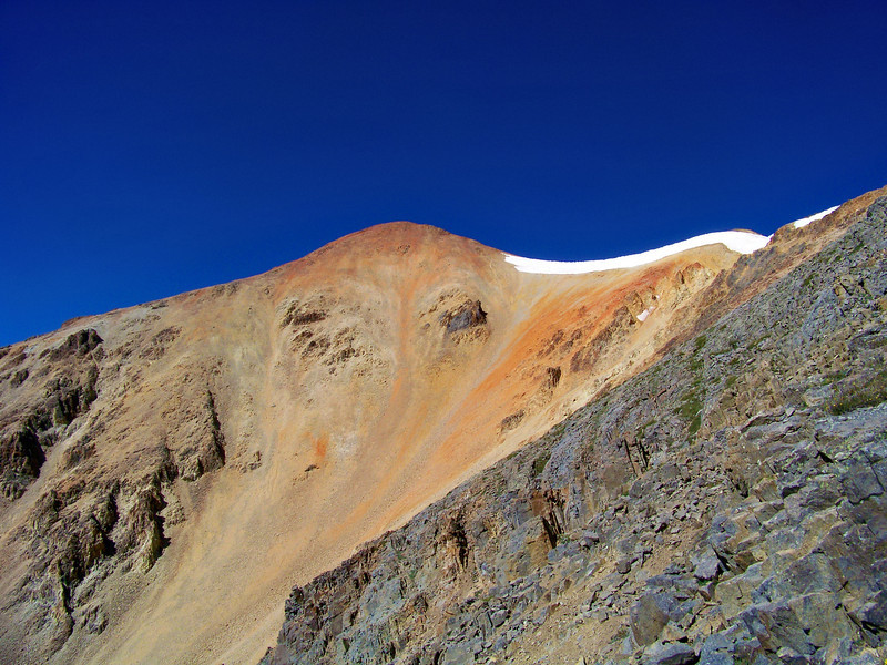The colorful east face of Redcloud Peak, Colorado San Juan Range.