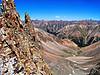 The South Fork Sliver Creek drainage below Sunshine and Redcloud Peaks, Colorado San Juan Range.
