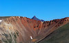 First view of Wetterhorn Peak from the Redcloud northeast ridge, Colorado San Juan Range.