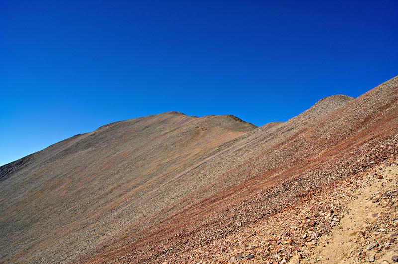 The gentle east face of San Luis Peak; Colorado San Juan Range