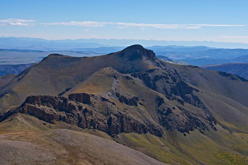 The rugged Organ Mountain (13,801 ft.) directly east of San Luis Peak; Colorado San Juan Range