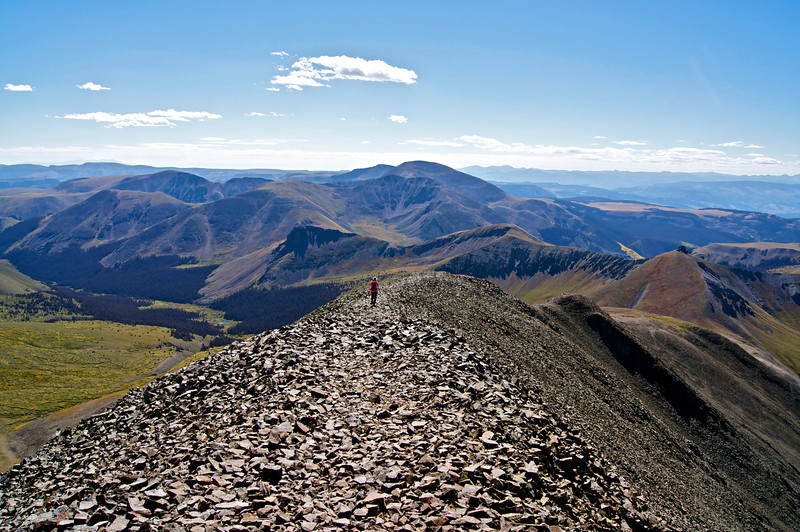 Descending the south ridge of San Luis Peak; Colorado San Juan Range