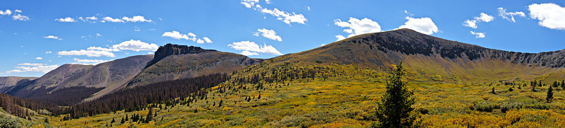 Fall foliage in the Cochetopa Creek drainage just below San Luis Peak; Colorado San Juan Range