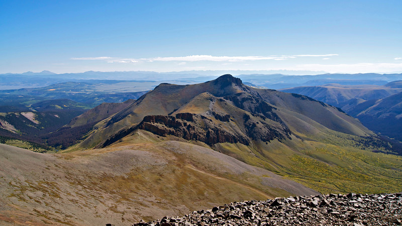 Organ Mountain (13,801 ft.), viewed from the summit of San Luis Peak; Colorado San Juan Range