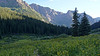 Campsites in the Chicago Basin; Colorado San Juans.