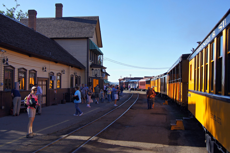 The Durango & Silverton Narrow Gauge train was built in 1882 to haul silver and gold from mines deep in the San Juan wilderness.