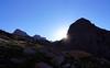 Sunrise over Sunlight and Windom Peaks, Colorado San Juans.