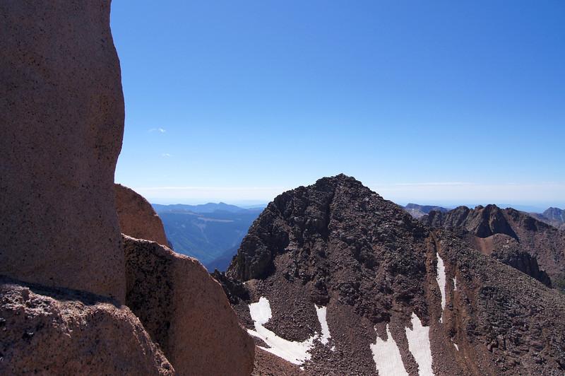 Windom Peak viewed from just below the Sunlight ridge; Colorado San Juans.