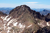 Windom Peak's west face, viewed from the summit of North Eolus; Colorado San Juan Range.