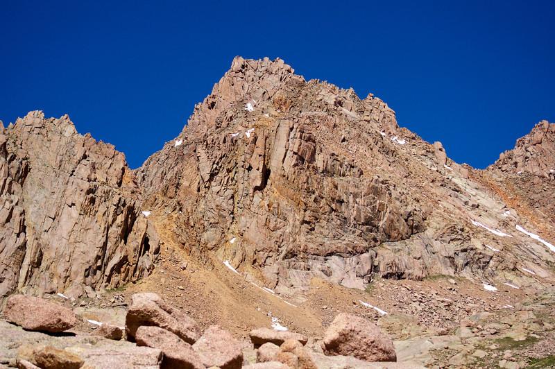 Sunlight Peak viewed from Twin Lakes; Colorado San Juan Range.
