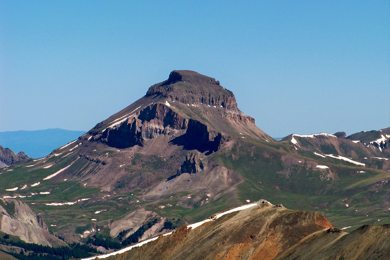Uncompahgre Peak's south face, seen from the Sunshine/Redcloud saddle, Colorado San Juan Range.