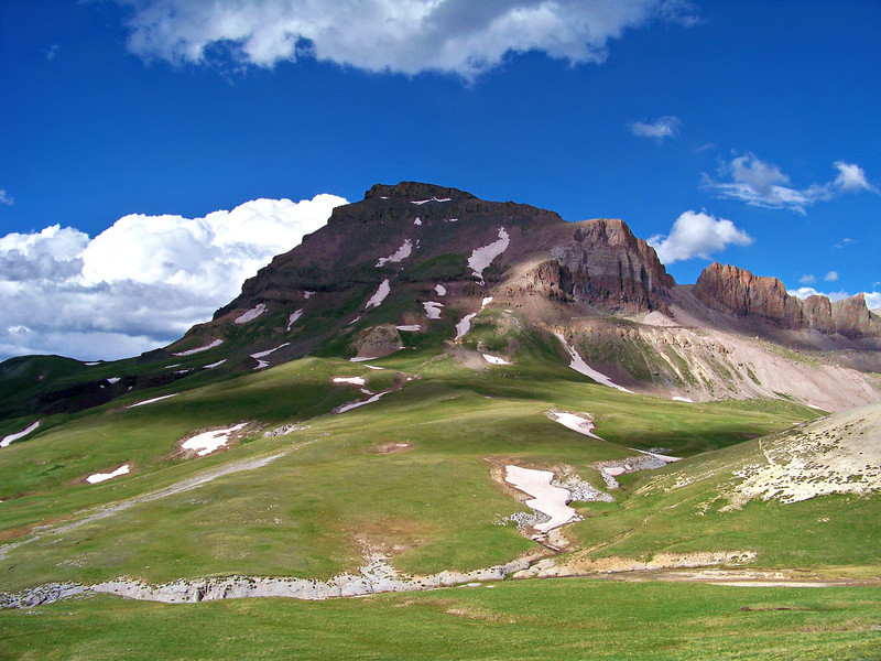 Uncompahgre Peak, southwest face, Colorado San Juans