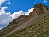 Uncompahgre Peak, south cliffs, Colorado San Juan Mountains
