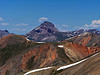 Uncompahgre Peak seen from the Sunshine/Redcloud saddle, Colorado San Juan Range.