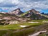 Wetterhorn and Matterhorn Peaks, east approach