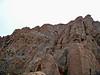 Climbing the final pitch to the Wetterhorn Peak summit