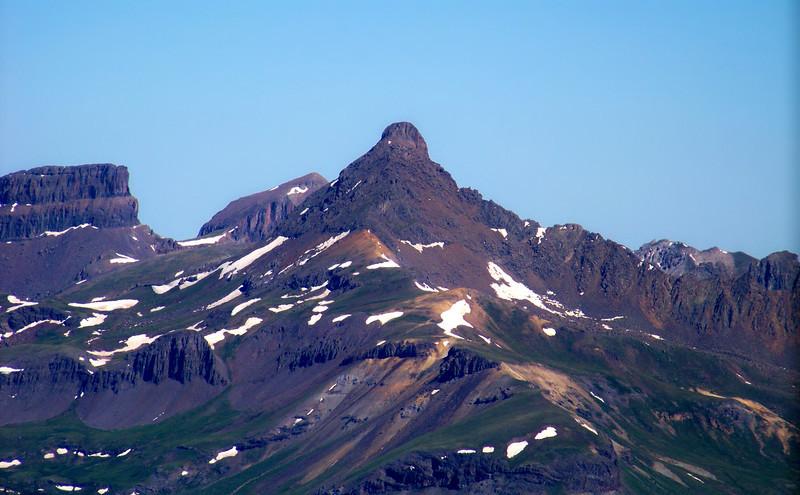 Wetterhorn Peak's southeast face, viewed from the summit of Redcloud Peak, Colorado San Juan Range.