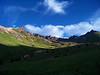 Morning light and shadows on Wetterhorn's southeast slopes
