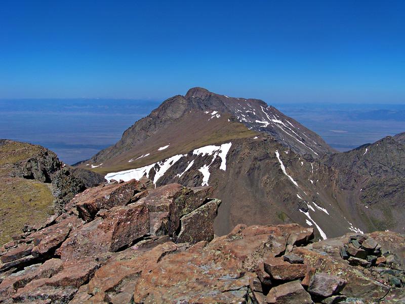 Kit Carson Peak viewed from the summit of Humboldt Peak, Colorado Sangre de Cristo range.