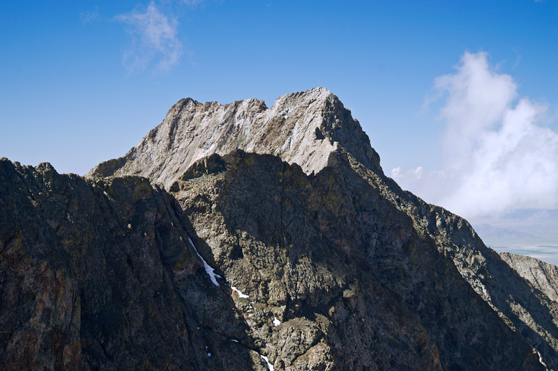 Little Bear Peak and the connecting ridge to Blanca Peak; Colorado Sangre de Cristo Range.