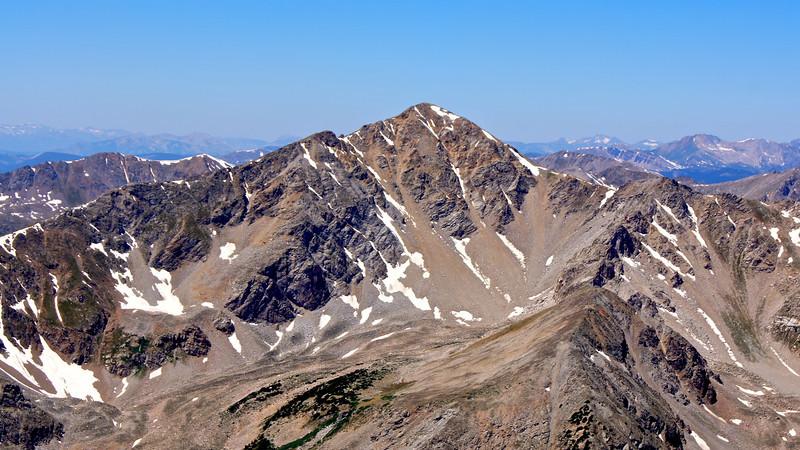 Huron Peak's east face, viewed from the summit of Missouri Mountain; Colorado Sawatch Range.
