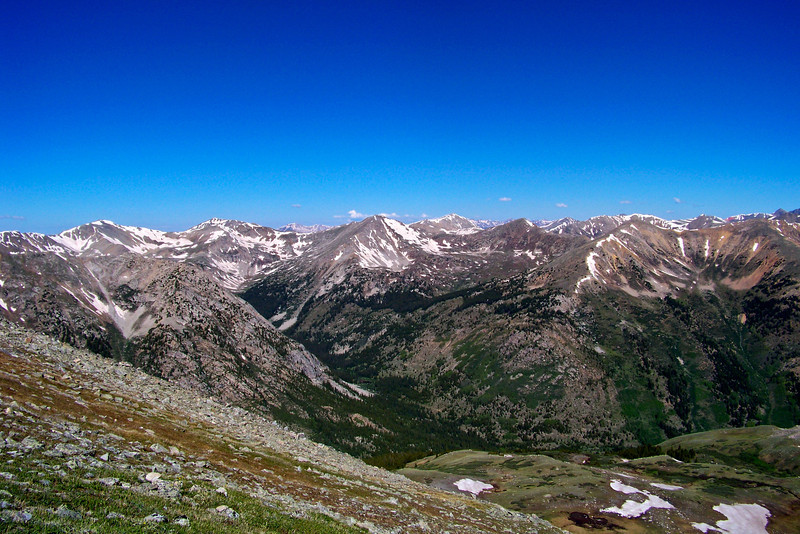 View to the west from the Huron Peak trail, Colorado Sawatch Range