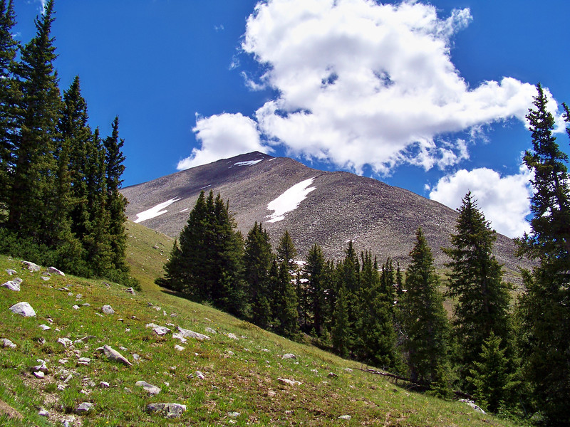 The northwest face of Huron Peak, Colorado Sawatch Range.