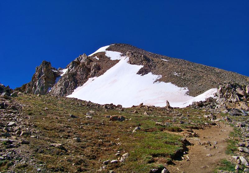 Looking up the north ridge to the summit of Huron Peak, Colorado Sawatch Range