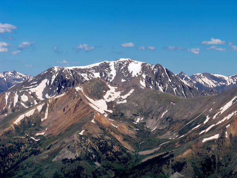 La Plata Peak's south face, viewed from Huron Peak; Colorado Sawatch Range
