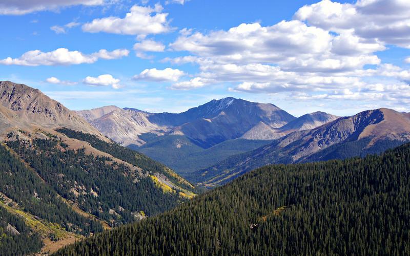 La Plata Peak's northwest face, viewed from Independence Pass; Colorado Sawatch Range