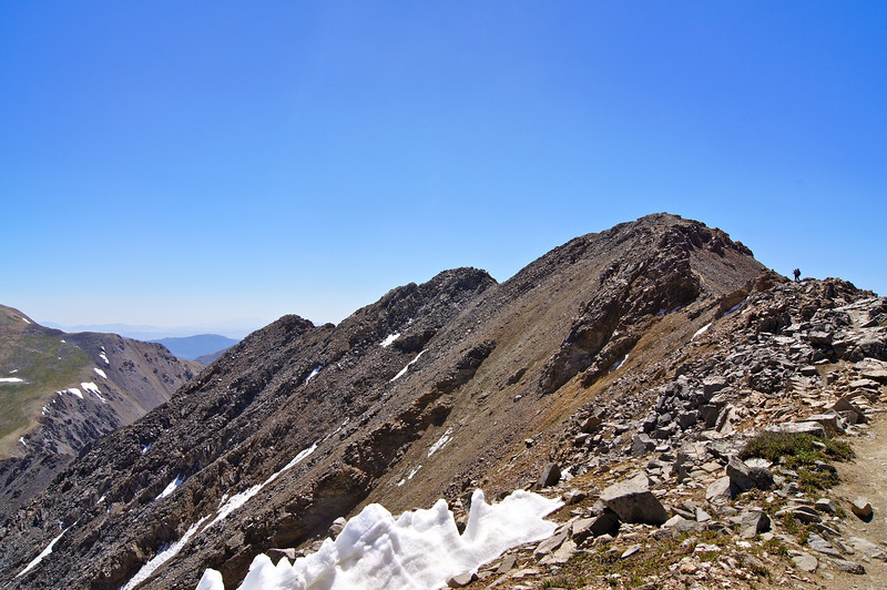 Hiking Missouri Mountain's northwest ridge; Colorado Sawatch Rang.