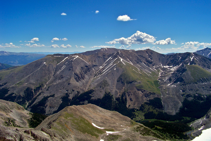 Missouri Mountain as seen from the summit of Huron Peak to the west; Colorado Sawatch Range