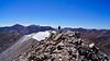 A rare moment of solitude on Mt. Antero's summit; Colorado Sawatch Range.