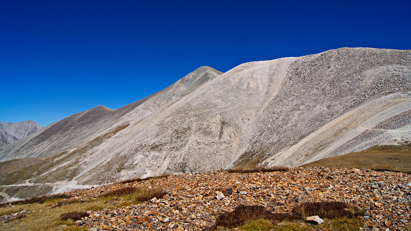 Mount Antero's broad, sprawling west face; Colorado Sawatch Range.