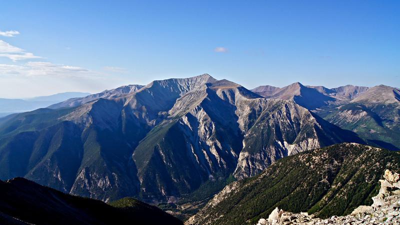 Mount Antero's majestic north slopes as seen from neighboring Mt. Princeton; Colorado Sawatch Range.