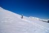 Beginning the 2000 foot ascent of Elbert's East Ridge.  Temperature: 12 degrees; wind chill: minus 6 degrees.