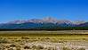 Colorado's highest peak, Mount Elbert (14,440 ft.), towers over the upper Arkansas Valley, southwest of Leadville; Colorado Sawatch Range.